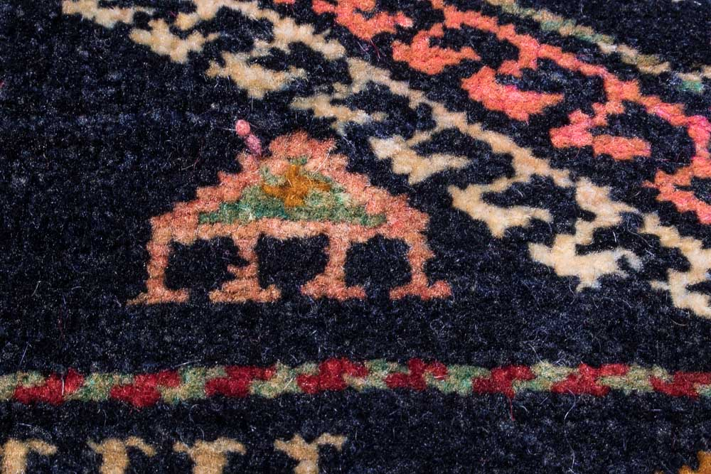 Small Turkish Wool Rug With Amulets